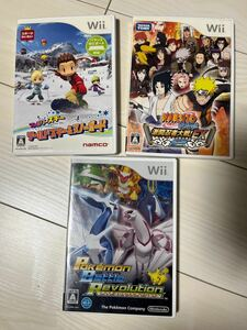 Wii ソフト まとめ売り スキー ナルト ポケモン  任天堂 ニンテンドーWii