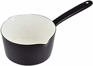 ブラック パール金属 プチクック ホーロー ミルクパン 15cm ブラック HB-2083