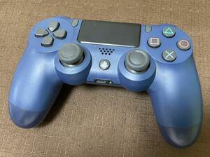 【送料無料】ワイヤレスコントローラー ブルー PS4 DUALSHOCK4(プレイステーション4)