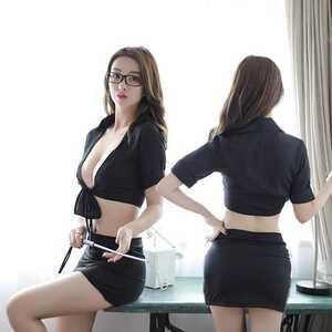 セクシー 女教師 秘書 コスチューム ハロウィン コスプレ衣装 X-27bk