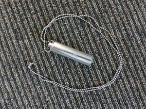 【開封済】◆CMCペンダント D型 【刻印入り】1000mg(1g) カーボンマイクロコイル 電磁波 5G 大容量 超軽量 送料無料