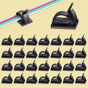 セール 新品 2020最新版 ケ-ブル収納 Q-QY By MAVEEK 50個セット 6階段調節可能 ケ-ブルホルダ- コ-ドクリップ コ-ドフック