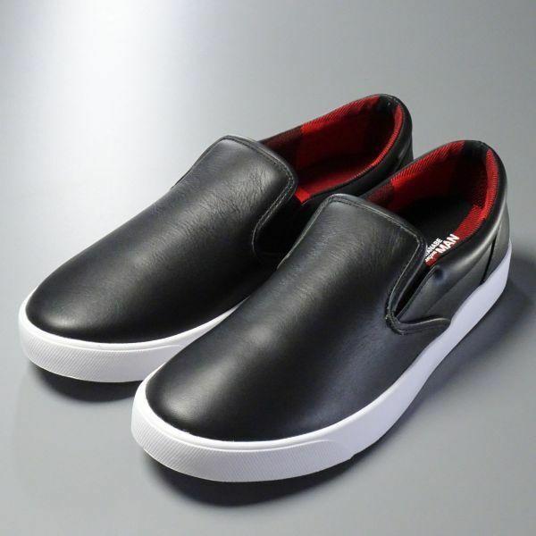 TC9674//未使用*コムデギャルソン ジュンヤワタナベ マン*メンズ28.0/レザースニーカー/スリッポン/ローファー/靴/黒/ブラック