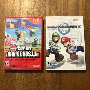 ニュースーパーマリオブラザーズ+マリオカート Wiiソフト