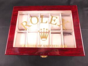 ロレックス ROLEX 時計ディスプレイケース10本収納 コレクター向け コレクションボックス 海外輸入品 10001