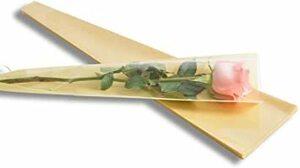 黄 YONIK ラッピングバッグ フラワー 一輪用 ブーケ ラッピング 花 包装紙 50枚 (黄)