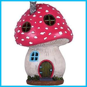 V&M Valery Madelyn ソーラー置物 キノコハウス 25cm ソーラーライト ガーデンオーナメント 置物ライト かわいい 童話 庭 飾り 屋外