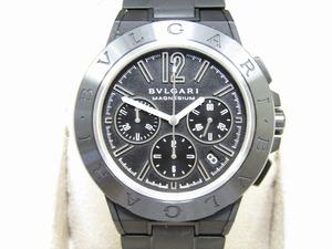 ♪売り切り 大特価 美品 BVLGARI ブルガリ ディアゴノ マグネシウム DG42SMC CH メンズ腕時計 自動巻き 黒文字盤 保証書付き オススメ品♪