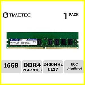 TT-Timetec Hynix IC 16GB サーバー用メモリ DDR4 2400MHz PC4-19200 Unbuffered ECC 1.2V CL17 288 Pin UDIMM Server メモリ