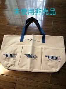 最安値【未使用】ボスキャンペーン リサラーソン トートバッグ LISA LARSON リサ・ラーソン 青 非売品
