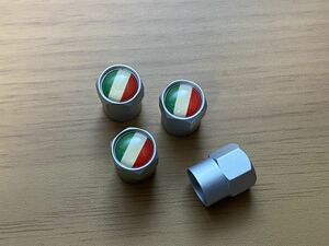 送料無料 イタリア 国旗 エア エアー バルブキャップ エンブレム フェラーリ ランボルギーニ アルファロメオ フィアット マセラティ