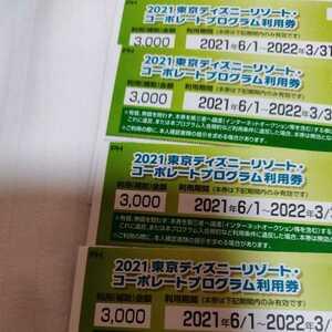 東京ディズニーリゾート ディズニーランド ディズニーシー 割引券 4枚 コーポレートプログラム