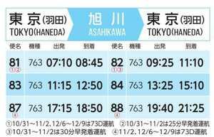 旭川-羽田 東京 航空券 ANA系 AIRDO 片道も 往復も 直前OK!!!即発券!