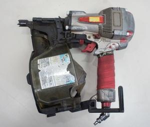 223★MAX マックス 釘打機 スーパーネイラ HN-75N1(D) レッド 高圧コイルネイラ 工具 電動工具★5348N7 /2b