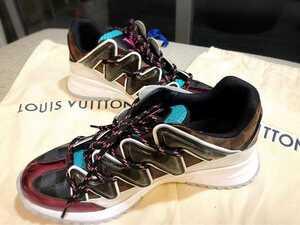 新品 ルイ ヴィトン ジグザグライン スニーカー メンズ マルチ 7.5 ヴァージルアブロー モノグラム ダミエ LOUIS VUITTON