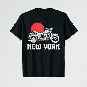 新品 未使用 York New R-T2 グラフィック Tシャツ ヴィンテ-ジ オ-トバイ & サン ミニマリスト レトロ
