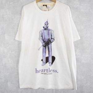 【自動値下げ対象外】90's オズの魔法使い ブリキ キコリ USA製 イラストプリントTシャツ XL ビンテージ 古着 検不思議の国のアリス