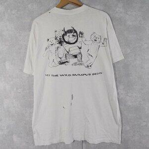【自動値下げ対象外】 90's かいじゅうたちのいるところ USA製 絵本プリントパロディTシャツ XL 古着 ヴィンテージ  検アニメTOYSTORY