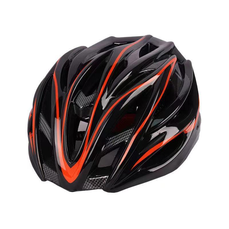 自転車 ヘルメット 軽量 高剛性 サイクリング 大人用 ロードバイク 赤&黒