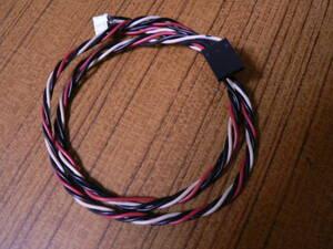 送料最安 120円 PWR92:デスクトップパソコン内蔵FD装置用電源ケーブル 4芯メス=4芯メス