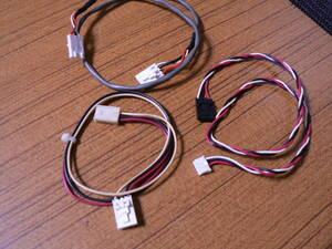 送料最安 120円 PWR91:デスクトップパソコン内蔵FD装置用電源ケーブル 4芯メス=メス3芯