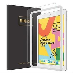 即決 【ガイド枠付き】Nimaso iPad 10.2 ガラスフィルム (第7世代) 強化ガラス 液晶保護フィルム 特価