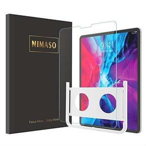 数量限定 Nimaso【ガイド枠付き】iPad Pro 12.9 インチ(2020 / 2018)用 強化ガラス液晶保護フィルム 第3/4世代対応 お買い得