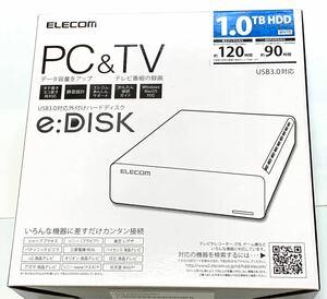 【新品】エレコム 外付けハードディスク 1TB ELD-CED010U