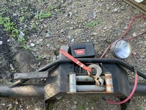(WARN) electric winch bumper, spotlight attaching Land Cruiser 70 Land Cruiser 70