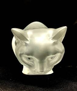 ラリック LALIQUE 猫 ネコ cat  バカラ クリスタルフィギュア 愛猫 オブジェ 置物