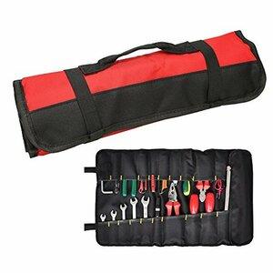 赤 QEES ツールケース ツールバッグ 道具袋 工具バッグ 車用バッグ 58.5*35cm 労働者用 便利 600Dオックスフ