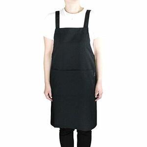 ブラック エプロン 女性用 シンプル H型 仕事用 保育士 カフェ 丈短い 動きやすい 選べるカラー メンズ 男性用 ブラック