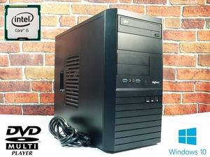 格安◆Windows10省電力高速デスクトップPC◆Core I5/メモリー8GB/高速SSD120GB+HDD500GB/事務 ブラウジング□266