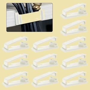 セール 新品 ケ-ブルホルダ- ケ-ブルクリップ、MAVEEK 8-L5 ホワイト 30個入り コ-ドクリップ ケ-ブル収納 ケ-ブル固定具
