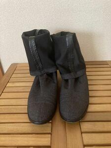 イタリア製 VERO CUOIO 伸縮素材ロングブーツ グレー 美品