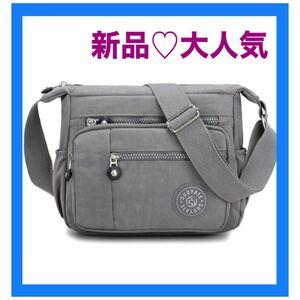 ショルダーバッグ グレー ボディーバッグ レディースバッグ マザーズバッグ  斜めがけバッグ iPad アウトドア