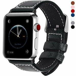 ブラック 42mm/44mm Fullmosa コンパチ Apple Watch バンド ベルト アップルウォッチバンド 42m