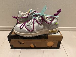 OFF-WHITE NIKE DUNK LOW 1 of 50 LOT 21 OFF WHITE OFFWHITE ナイキ オフホワイト ダンク 27cm US9