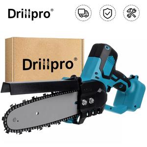 電動工具 電動のこぎり チェーンソー コードレス ブラシレス DIY 8inch充電 マキタ makita 18V 互換 Drillpro バッテリーなし