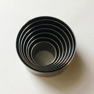 レザークラフト用 7点 丸型 円型 型抜き ポンチセット ハンドメイドに