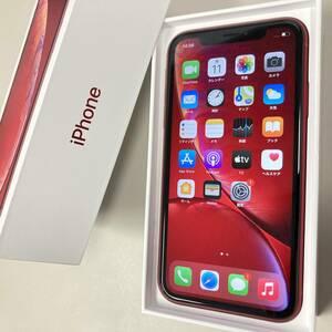 【中古】iPhone XR 64GB レッド MT062J/A ≪SIMフリー,au版(SIMロック解除),判定〇,A2106≫
