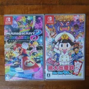新品未開封 Nintendo Switch マリオカート8デラックス 桃太郎電鉄 ソフト2本セット