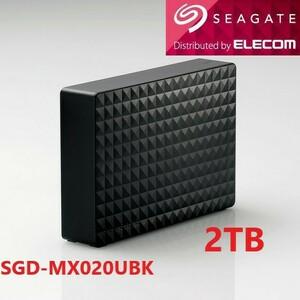 美品●2TB●SGD-MX020UBK(ブラック) USB3.1(Gen1) 対応HDD縦横置き可能MAC/TV録画/PS5対応