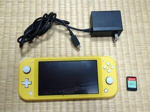 Nintendo 任天堂 スイッチ Switch Lite 黄色(箱+充電器) + あつまれどうぶつの森(箱なし) USED美品