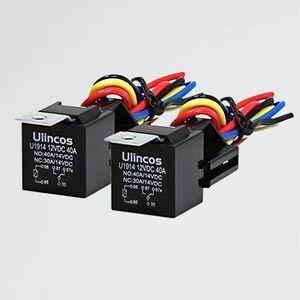 新品 未使用 5極リレー Ulincos 5-V5 2SQハーネス(2個セット) (5極リレー) U1914 DC12V車用 30/40A 1C(NO/NC)