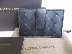 【展示保管品】 ボッテガヴェネタ BOTTEGA VENETA イントレチャート レザー 名刺入れ カードケース メンズ レディース