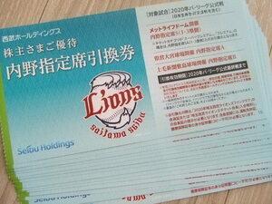 【送料無料】西武ホールディングス 株主優待券 内野指定席引換券=グッズクーポン1000円分