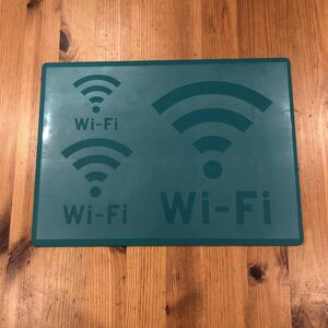 No.190 ステンシルシート Wi-Fi WiFi ワイファイ 大中小 3サイズ ステンシルプレート