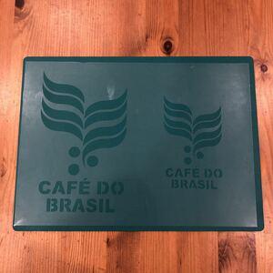 No.181 ステンシルシート ステンシルプレート カフェドブラジル コーヒー CAFES DO BRASIL ロゴ 縦17.5センチ、12センチ