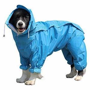 限定価格!ブルー 20 OTOKU 犬用レインコート 快適 いい素材 レインコート ペットレインコート カッパ 犬用合羽 UC43
